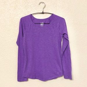 🌟 Justice | Girls purple plain long sleeve tee